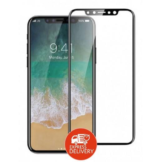 دڨيا – حماية شاشة زجاجي ثلاثي الابعاد لآي فون X – أسود