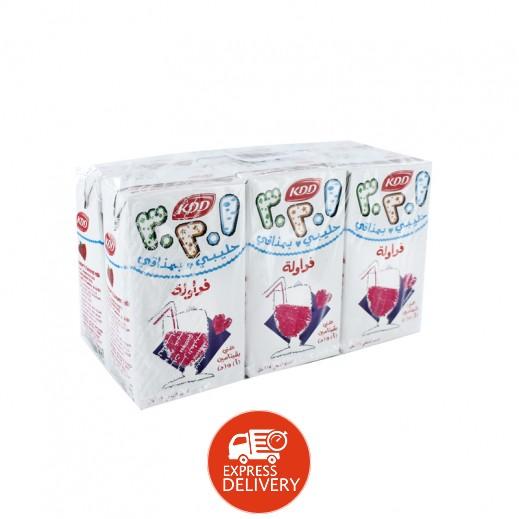 كى دى دى – حليب بنكهة الفراولة 125 مل ( 6 حبة )