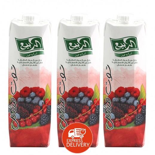 الربيع - عصير مزيج التوت نكتار 1 لتر (3 حبة)