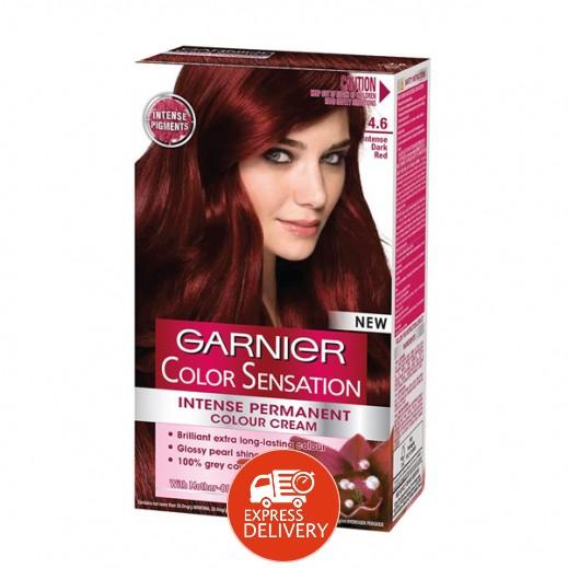 غارنييه كالر انتسيتي – صبغة دائمة للشعر رقم 4.60 بلون أحمر عميق وحاد
