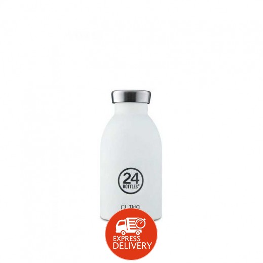 24 بوتلز - زجاجه مشروبات كليما الحرارية - أبيض 330 مل