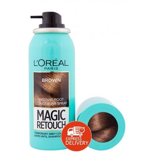 لوريال – صبغة شعر رتوش غير دائمة بخاخة لون بني 20% مجاناً