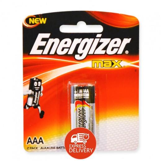 إنرجايزر ماكس - بطارية ألكالين مقاس AAA - عبوة 2 حبة