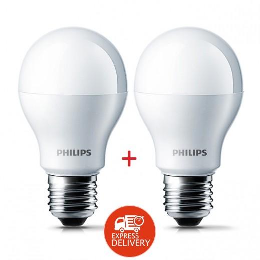 فيليبس – لمبة E27 لون أبيض 6500K بقوة 13 واط LED – عرض 1 + 1 مجاناً