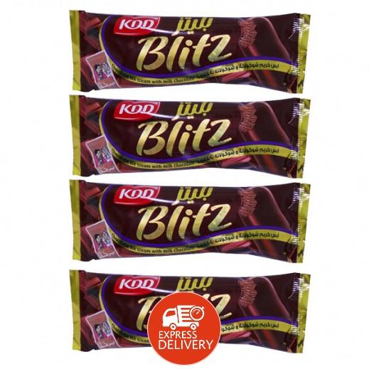 كي دي دي بليتز - آيس كريم بالشوكولاتة والحليب 62.5 سم (4 حبة)