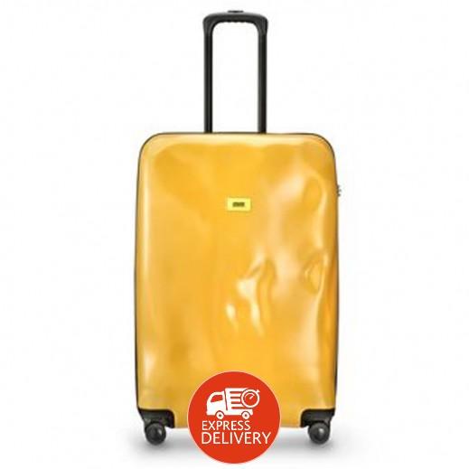 كراش باجيدج – حقيبة سفر سبينر لون أصفر – حجم متوسط (66 × 43 × 26 سم)