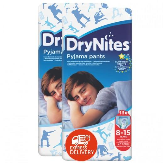 دراي ناتيس – حفاضات دراي نايتس للأولاد (8-15 سنة) وزن 27-57 كجم (2×13 حبة) - عرض التوفير