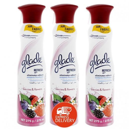 جليد جليد – معطر الجو بعطر التوت والزهور 275 مل (3 حبة) - أسعار الجملة )