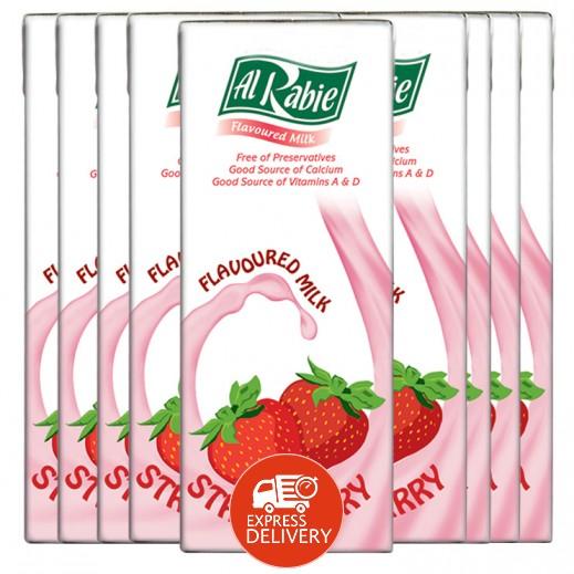 الربيع - حليب بالفراولة 200 مل (18 حبة)