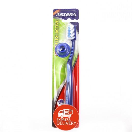 أستيرا – فرشاة تنظيف الأسنان فليكس أكتيف الرقيقة