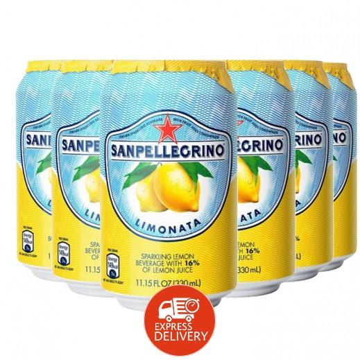 سان بيليغرينو – عصير الليمون الفوار 6 حبة × 330 مل