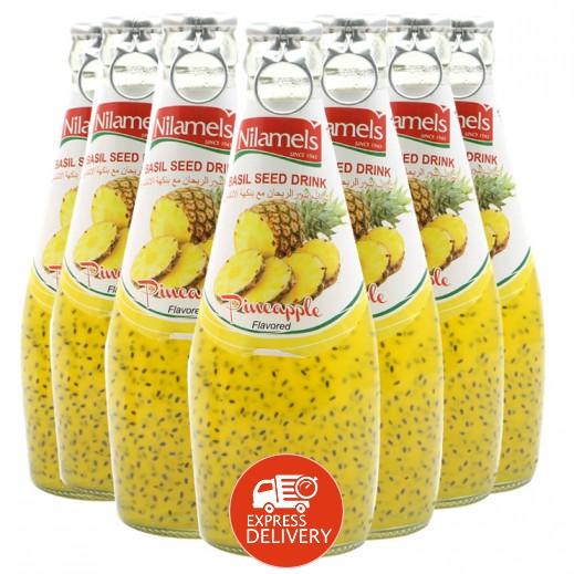 نيلاميلز -  شراب بذور الريحان مع نكهة الأناناس 290 مل (24 حبة)