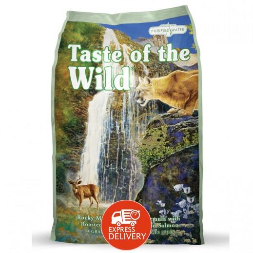 تيست أوف ذا وايلد – طعام قطط جاف بالسلمون المدخن والبازلاء 2 كجم