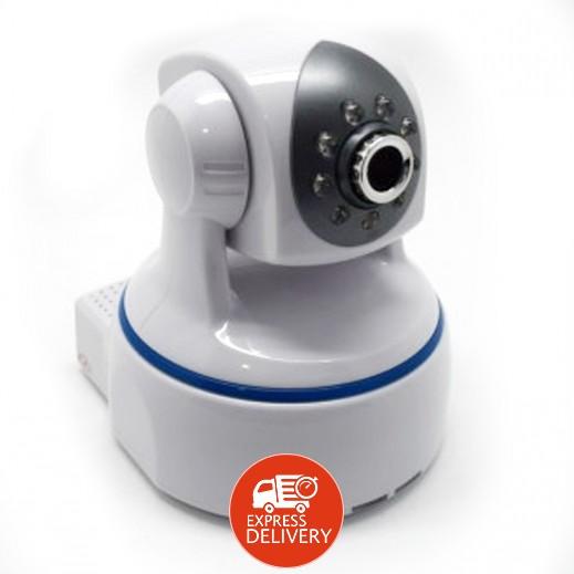 إن إتش إي – كاميرا مراقبة الأطفال والمنزل موديل HD Cloud IP Camera رؤية ليلية بقوة 1080 بكسل – أبيض