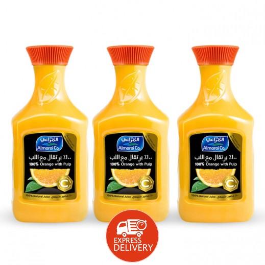 المراعي - عصير برتقال مع اللب  3 حبة × 1.75 لتر - أسعار الجملة