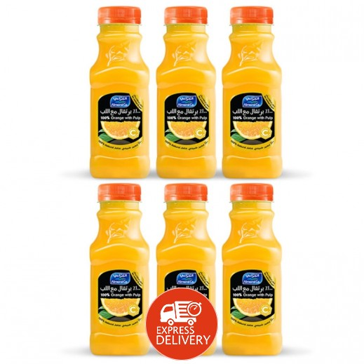 المراعي - عصير برتقال مع اللب 6 حبة ×  300 مل - أسعار الجملة