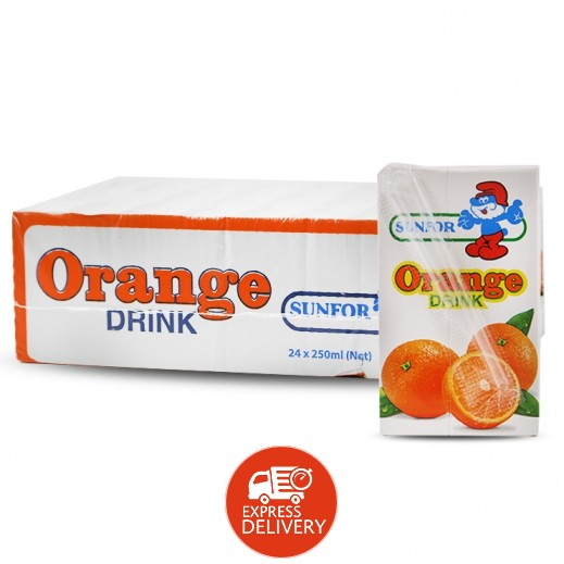 كي دي دي - عصير سانفور برتقال 24×250 مل