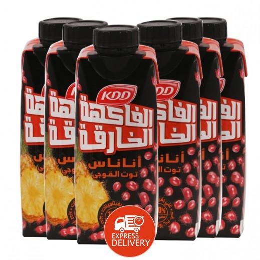 كي دي دي - عصير باور فروت (نكهة الأناناس وتوت جوجي) 6×250 مل