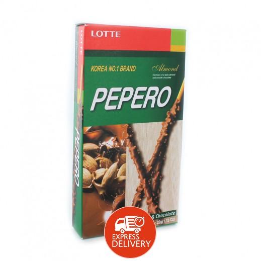بيبيرو – أصابع بسكويت باللوز والشوكولاته 32 جم