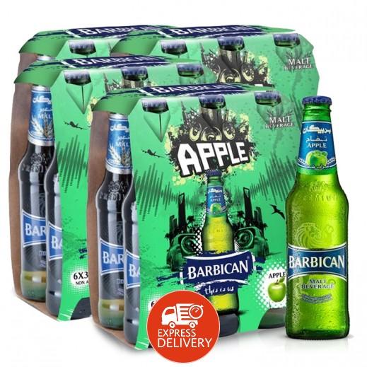 بربيكان - مشروب شعير بنكهة التفاح 330 مل ( 4 كرتون × 6 حبة ) – أسعار الجملة