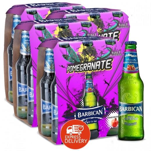 بربيكان - مشروب شعير بنكهة الرمان 330 مل ( 4 كرتون × 6 حبة ) – أسعار الجملة