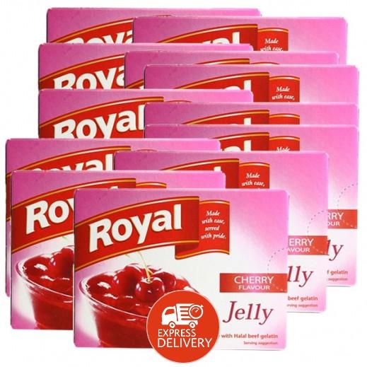 رويال - حلوى الجيلاتين بنكهة الكرز 85 جم (10+2 مجاناً)