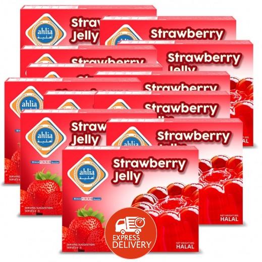 أهلية - حلوى الجيلاتين بنكهة الفراولة 80 جم (10 + 2 مجاناً)