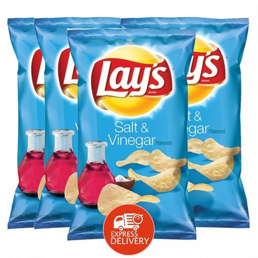 ليز - شيبس بطعم الملح والخل 4 × 48 جم