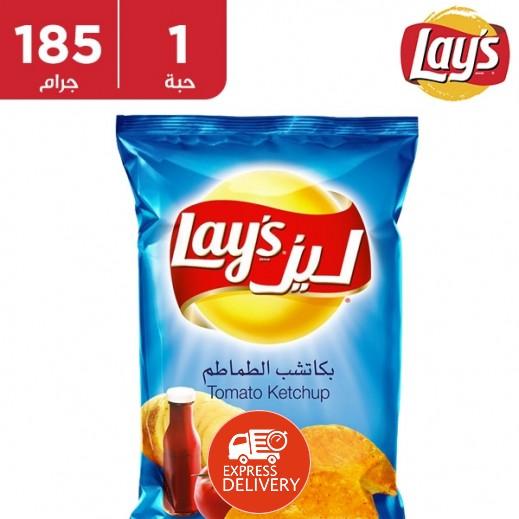 ليز - شيبس بكاتشب الطماطم 185 جم
