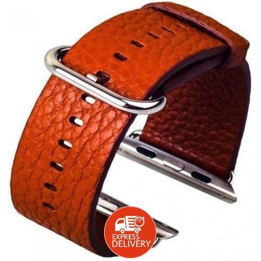 كوتيتشي – حزام من الجلد لساعة أبل 42/44 مم – بني