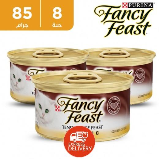 فانسي فيست – طعام القطط  باللحم البقري - كلاسيكي 85 جم ( 8 حبة)