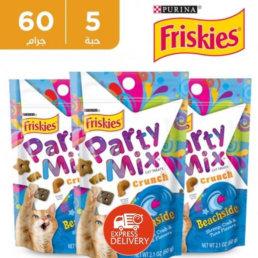 فرسكس – طعام القطط بارتي ميكس بيتش سايد 60 جم (5 حبة)
