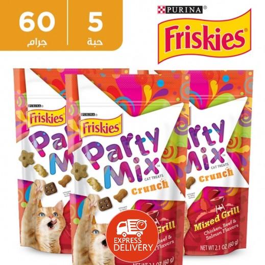 فرسكس – طعام القطط بارتي ميكس المشويات المشكلة 60 جم (5 حبة)