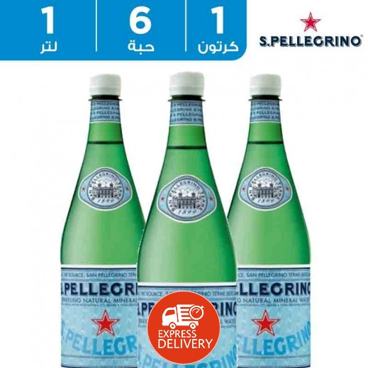 سان بيليغرينو – مياه معدنية طبيعية فوارة 6 × 1 لتر