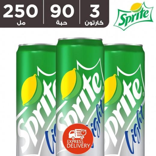 سبرايت لايت – مشروب غازي 250 مل ( 3 كرتون × 30 حبة ) – أسعار الجملة