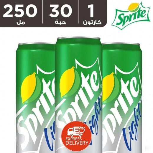 سبرايت لايت – مشروب غازي ( كرتون 30 حبة × 250 مل )