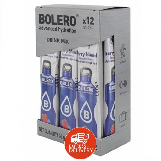 بوليرو  - شراب فوري خالٍ من السكر بنكهة خليط التوت 12 × 3 جم