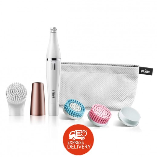 براون - آلة إزالة شعر الوجه SE851 + فرشاة تنظيف الوجه أربع حبة