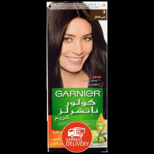 غارنييه – صبغة دائمة للشعر رقم 3 بلون بني غامق