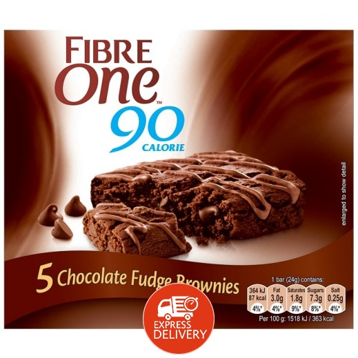 فايبر وان - براوني الشوكولاتة 5 × 24 جم