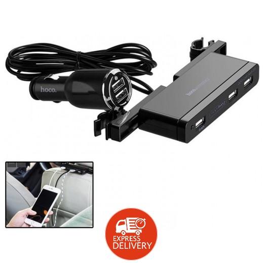 هوكو – شاحن USB للسيارة 5 منافذ – أسود