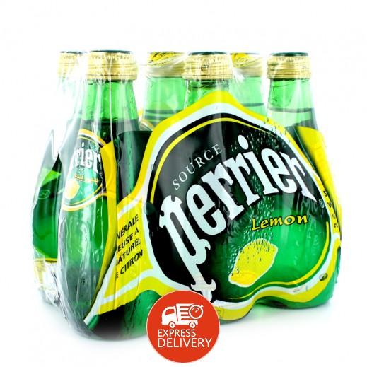 بيريه - مياه معدنية طبيعية بطعم الليمون 6 × 200 مل