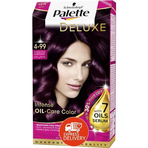 باليت  – صبغة شعر باليت ديلوكس المركزة بعناية الزيت - درجة اللون 4-99 باذنجاني 50 مل