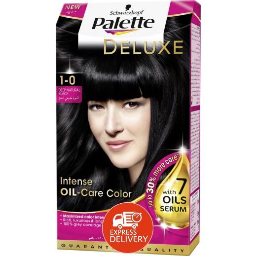 باليت – صبغة شعر باليت ديلوكس المركزة بعناية الزيت - درجة اللون 0-1 أسود طبيعي 50 مل