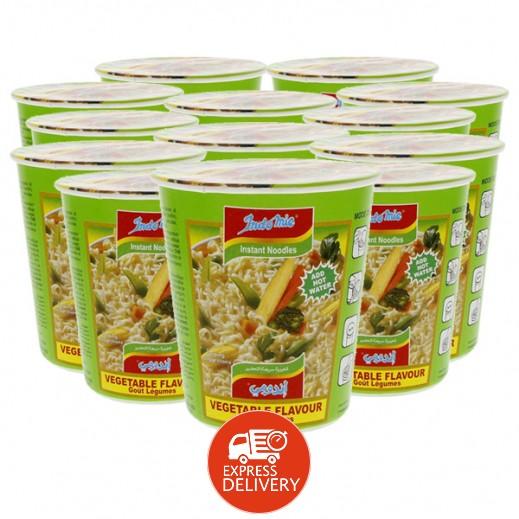 إندومي – شعيرية سريعة التحضير بنكهة الخضروات - كوب 60 جم × 12 حبة - أسعار الجملة