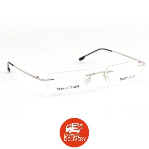 ميموري تيتانيوم - إطار نظارات العيون مون لايت من التيتانيوم - لون فضي/أسود