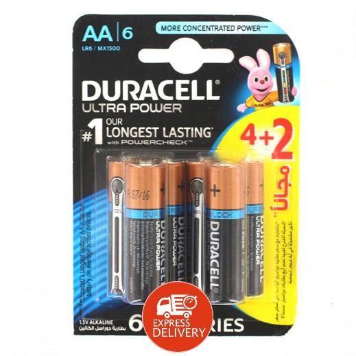 دوراسيل - بطارية الكالين مقاس AA - عبوة 4 + 2 حبة