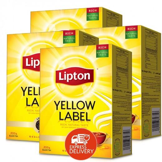 ليبتون – شاي العلامة الصفراء أسود 200 جرام (4 حبة) - أسعار الجملة