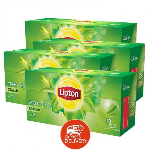 ليبتون – شاي أخضر كلاسيك 25 كيس (4 حبة) - أسعار الجملة