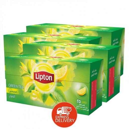 ليبتون – شاي أخضر بالليمون 25 كيس (4 حبة) - أسعار الجملة